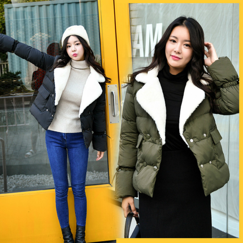 Winter Jacket Women Clothes 2019 Korean 90% White Down Thick Coat Female Casual Warm Fur Coller Casacas Para Mujer LW680