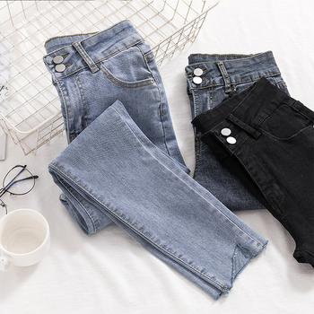 Dżinsy damskie dżinsy rurki kobieta plus rozmiar dżinsy dla mamy czarne 2019 Stretch spodnie dżinsowe dla kobiet tanie i dobre opinie WSTNewLay Kostki długości spodnie COTTON Poliester Na co dzień JEANS SY1283 Stripe Ołówek spodnie skinny light WOMEN