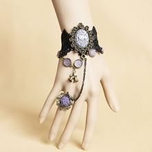 New 1 set Prom Original Lace Ring Bracelet prom night ring for girls(China)