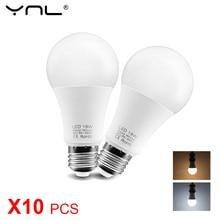 цена на 10PCS/Lot LED Bulb Lamp E27 220V 240V 6W 9W 12W 15W 18W Bombilla Lampada LED Light Bulb Spotlight Energy Saving Cold/Warm White