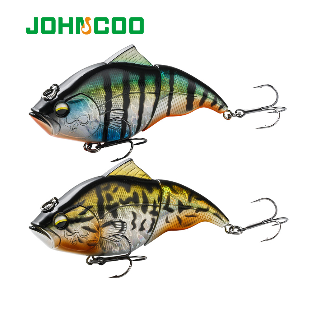 JOHNCOO 115mm Vibration SW Floating Fishing Lure Lipless Crankbaits Sinking Hard Plastic Artificial VIB Bait Bass Fishing Tackle