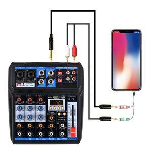 2020novo 6 canais 16 efeitos dsp misturador de áudio profissional som mixagem console dc5v fonte alimentação usb registro bluetooth placa de som