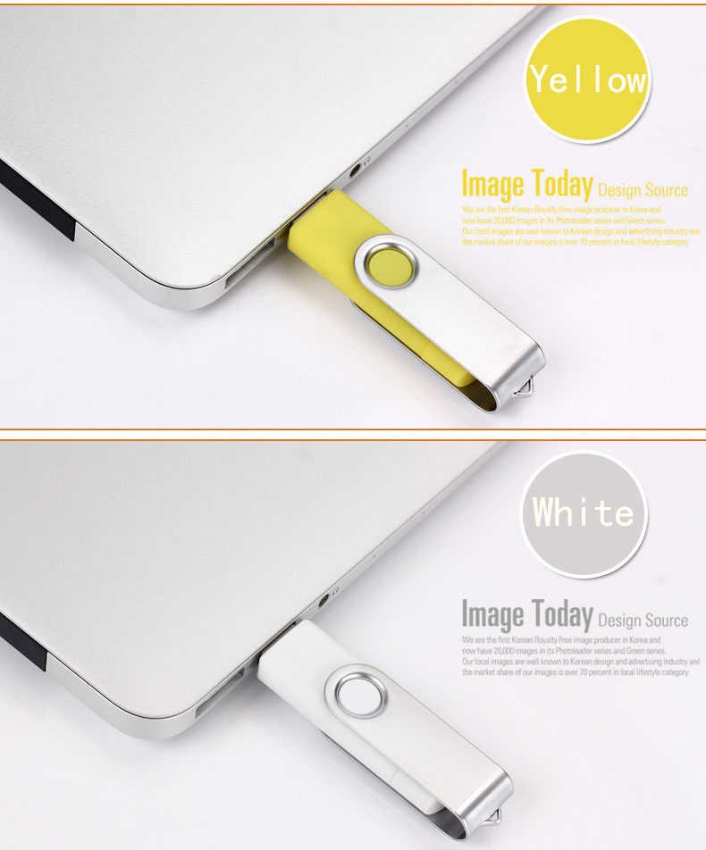 USB 2.0 del Metallo Girevole OTG USB Flash Drive Pen Drive 8gb 16gb 32gb 64gb 128gb cornici E Articoli Da Esposizione intelligente Pendrive USB Bastone di Vendita Al Dettaglio