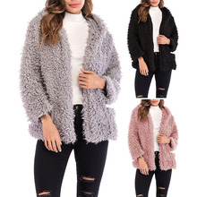 Autumn And Winter Fashion Hot Women Hooded Short Coat Casual Long Sleeve Loose Faux Shearling Zipper Warm Cardigan Jackets hh88 цена 2017