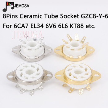 10PCS Ceramic 8Pins Tube Socket GZC8-Y-6 Electron Tube Socket KT88 6SN7 6V6 6L6 EL34 6N8P Vacuum Tube DIY HIFI Audio Amplifier image