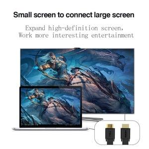 Image 4 - כבל HDMI 2.0 ספליטר 4k 1080P HD בחדות גבוהה HDMI ל HDMI כבל כבל switcher 1M 2M 3M שטוח קו עבור מתג מחשב