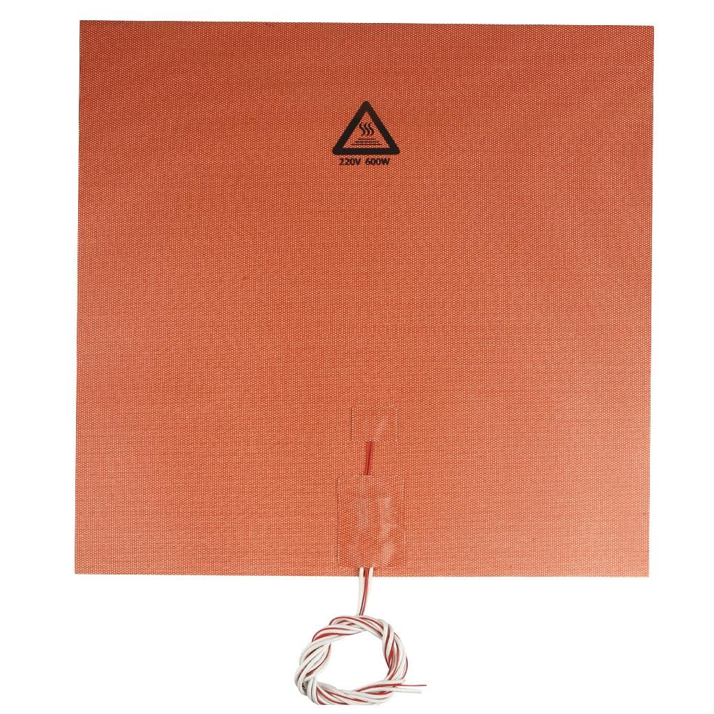 Аксессуары для 3D принтера 400*400 мм 220 в 600 Вт впускные тепловые подушечки с силикагелем с клеем для задней панели, высокая термостойкость