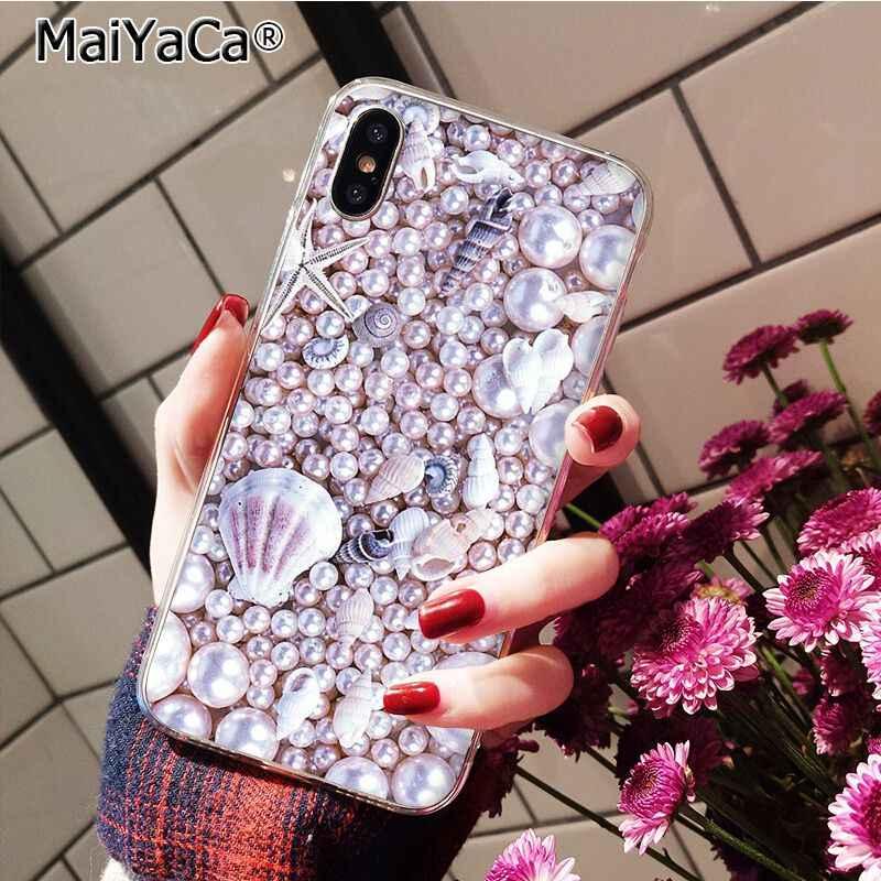 Coque de téléphone MaiYaCa Rose Rose or paillettes Bling marbre esthétique diamant perle pour iphone 11 Pro 8 7 6S Plus X XS MAX 5 5S SE XR