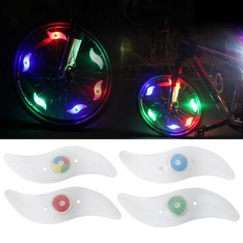 Światła rowerowe lampy kolorowe rowerowe szprychy światła do rowerów górskich składane elektryczne akcesoria rowerowe nowość tanie i dobre opinie stylish appearance Koła szprychy Baterii Easy installation