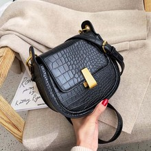 Crossbody Bags For Women Saddle Bags PU Leather Shoulder Messenger Bags Female bolso mujer Semi-circle Handbags And Purse