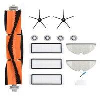 Aspirador de pó rolo escova kit para xiaomi roborock s50 s6 s60 s65 s55 s5 max peças eletrodomésticos núcleos água