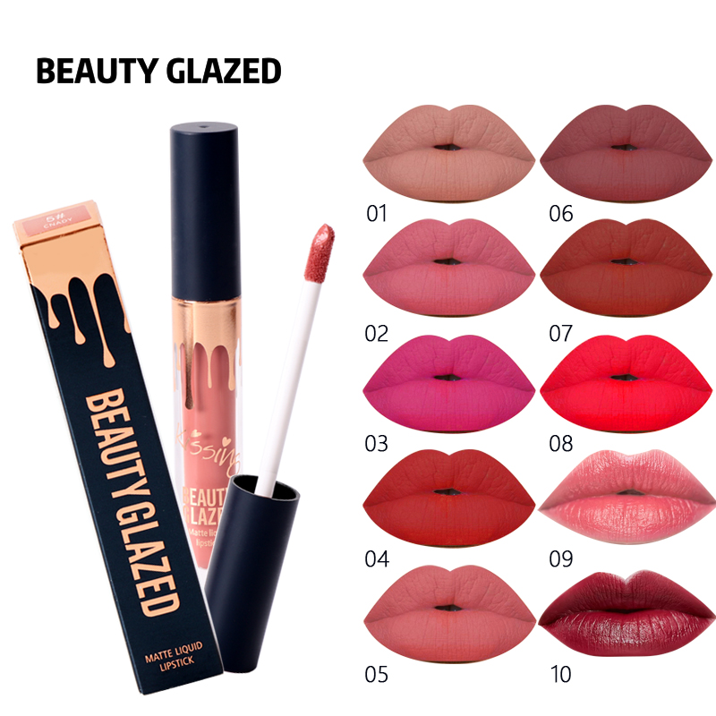 Beauty Glazed 10 Colors Matte Liquid Lipstick Nude Color Long lasting Red Lipstick Matte Red Velvet Lip Gloss Lip Tint Cosmetic 1