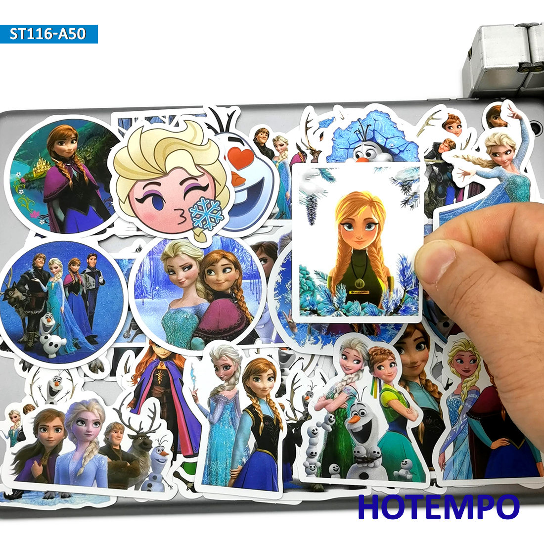 50pcs Cute Princess Elsa Anna Movie Anime Stickers Toys For Children Scrapbook Stationery Mobile Phone Laptop Suitcase Stickers