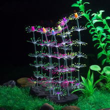 Aquarium Coral Plant Flower Ornament Silicone Artificial Fish Tank Water Decoration D40