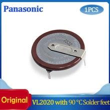 1 pçs/lote 100% original vl2020 carro chave fobs com pernas 90 graus recarregável para panasonic button bateria frete grátis