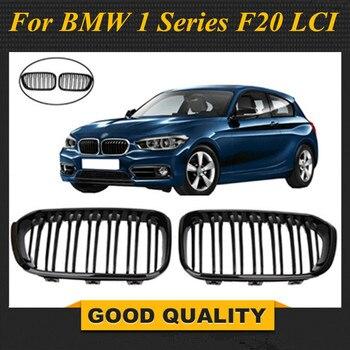 Dual slat black front kidney grill grille for bmw 1 series f20 LCI 2015 2016 5-door hatchback 114i 116i 118i