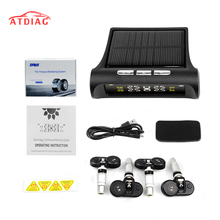 Original Smart Car TPMS Tyre Pressure Monitoring System Solar Power Digital LCD Display Auto Security Alarm Systems Tyre