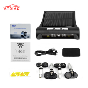 Image 1 - Original Smart Car TPMS Tyre Pressure Monitoring System Solar Power Digital LCD Display Auto Security Alarm Systems Tyre
