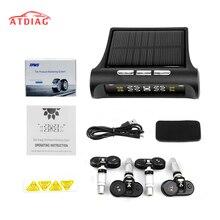 オリジナルスマート車 tpms タイヤ空気圧監視システムソーラーパワーデジタル lcd ディスプレイ自動セキュリティ警報システムタイヤ