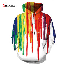 3D Sweatshirt Mens Womens Hoodies Colorful Splash Painted Graphic Casual Stylish Streetwear Pullover Tracksuit Tops zip front crop graphic pullover