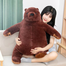 Милая имитация плюша 100 см большой коричневый медведь плюшевая