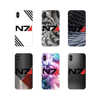 For Samsung Galaxy S3 S4 S5 Mini S6 S7 Edge S8 S9 S10 Lite Plus Note 4 5 8 9 Accessories Shell Covers Mass Effect N7 Armour Logo image