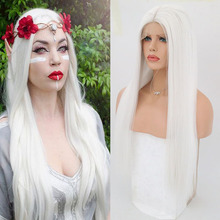 RONGDUOYI Long Silky Straight Wigs for Women Heat Resistant Synthetic Lace Front