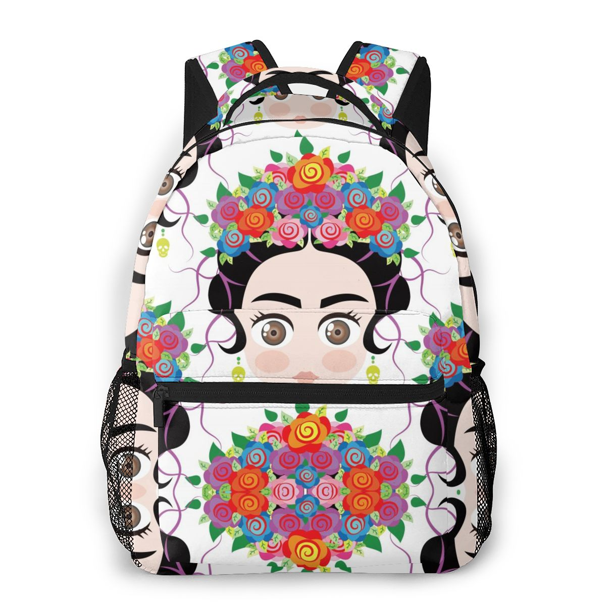 Women Backpack Travel Bag Baby Mexican Woman With Colorful Flower Crown School Bag Fashion Shoulder Bag For Teenage Girl Bagpack