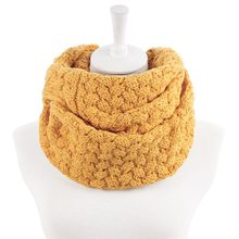 Peluche Chunky Knit Scaldino del Collo delle Donne Circle Misto Lana Cowl Multi-purpose Sciarpe Inverno Caldo Sciarpe Anello(China)