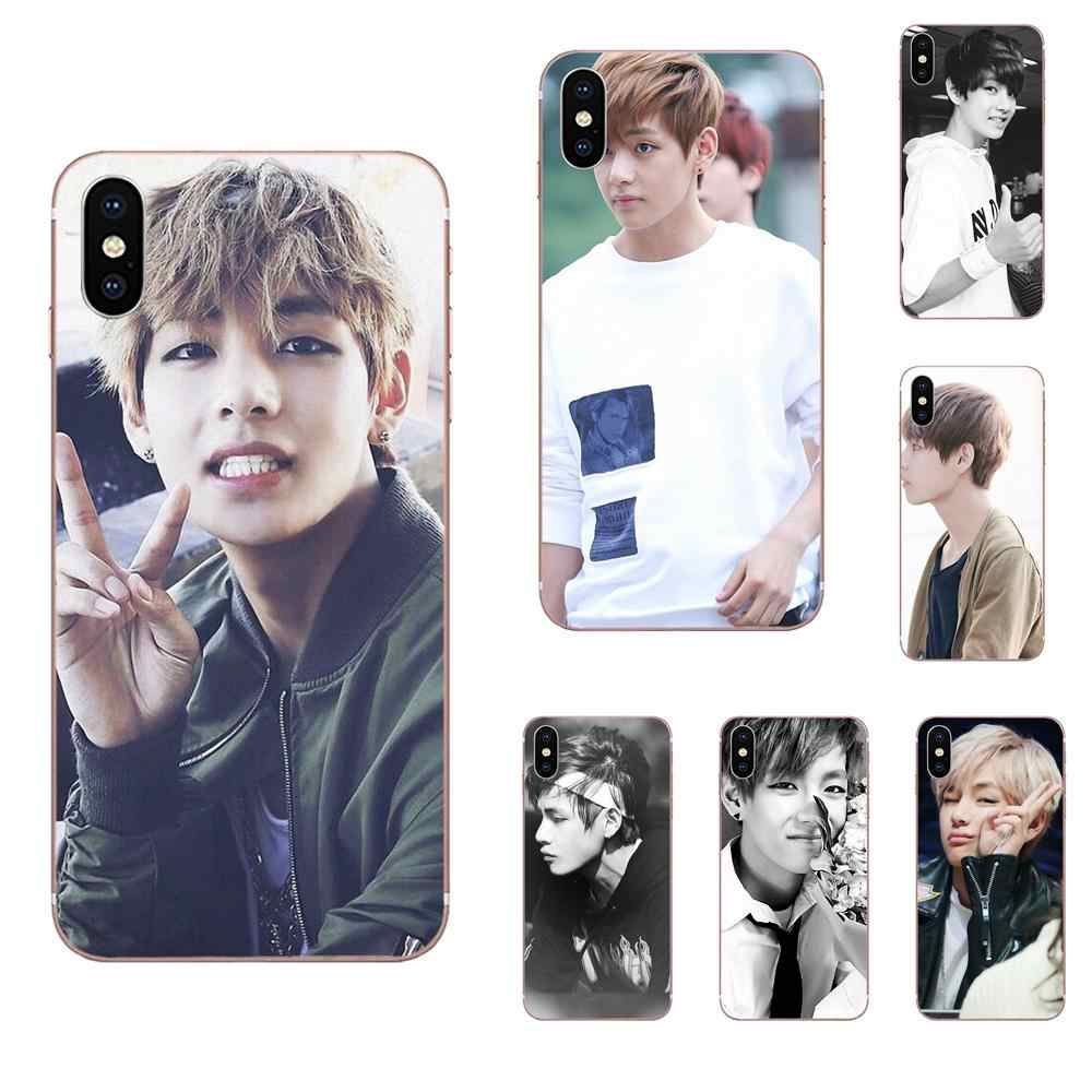 Bangtan Jongens Taehyung Run TPU Screen Protector Voor Apple iPhone X XS Max XR 4 4S 5 5C 5S SE 6 6S 7 8 Plus