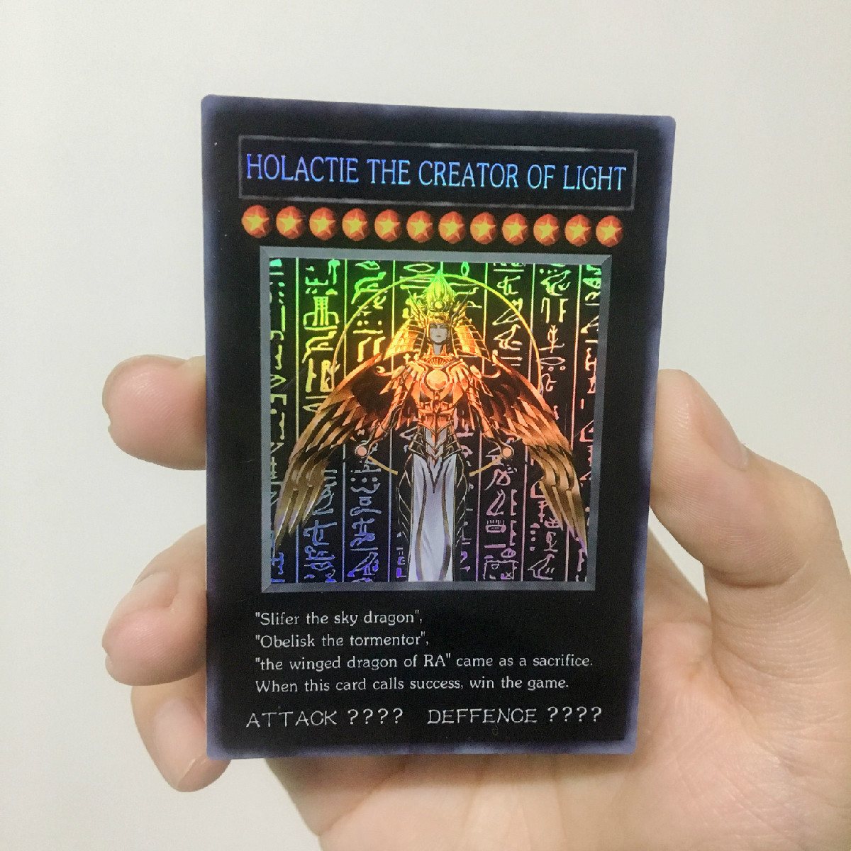 Yu Gi Oh God Of Light Creation Slate Map DIY Colorful Toys Hobbies Hobby Collectibles Game Collection Anime Cards
