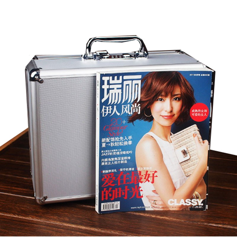 Aluminum Tool Case Suitcase Password Tool Box File Box Impact Resistant Safety Case Equipment File Box With Pre-cut Foam