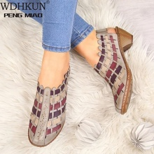Women Sandals Fashion Cross-Knit Short Sandals Wedge Breatha
