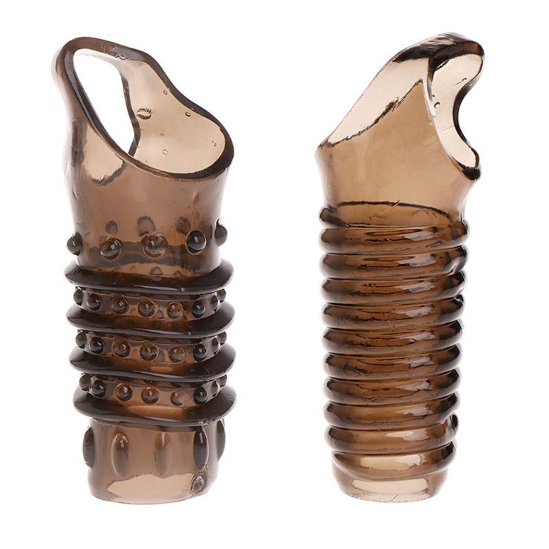Nova extensão do extensor da luva do alargamento x3ue do realçador da circunferência do silicone do alargamento do pênis