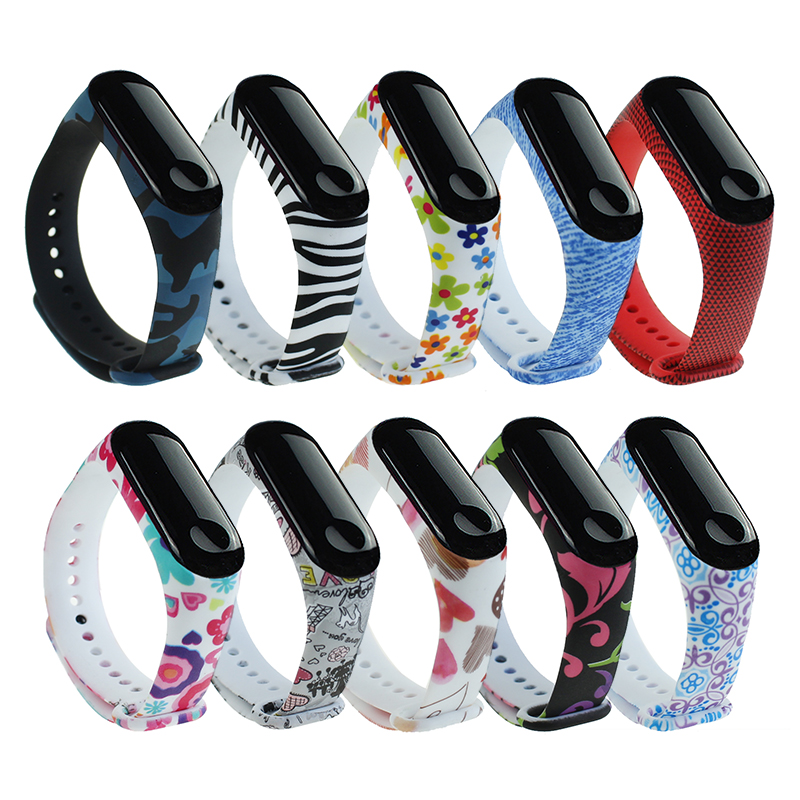 21 Styles Strap For Xiaomi Mi Band 4 3 Miband 4 3 Silicone Bracelet Wrist Band Replacement Smart Colorful Sport Wristband