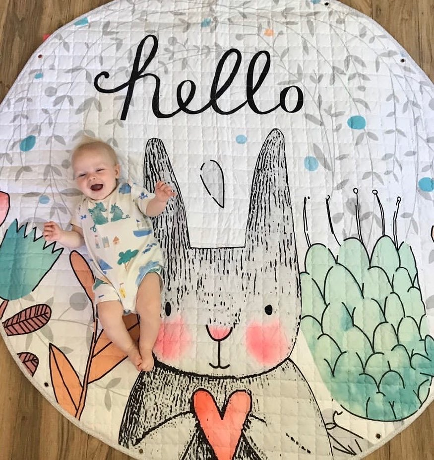 Cute Pattern Infant Baby Milestone Photo Props Background Blankets Play Mats Backdrop Cloth Calendar Photo Accessories Bed Decor