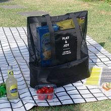 Large Capacity Picnic Bag Double Insulation Lunch Bag Shoulder Bag Camping Cooler Bag Handbag Ladies and Children