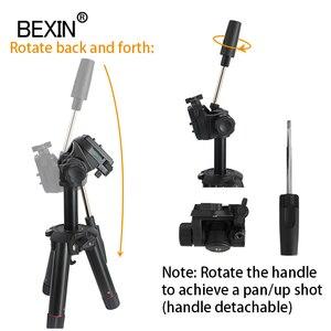 Image 5 - سطح المكتب اطلاق النار كاميرا ثلاثية صغيرة حامل الهواتف الذكية جبل حامل ثلاثي الأبعاد رئيس ترايبود للسفر كاميرا dslr