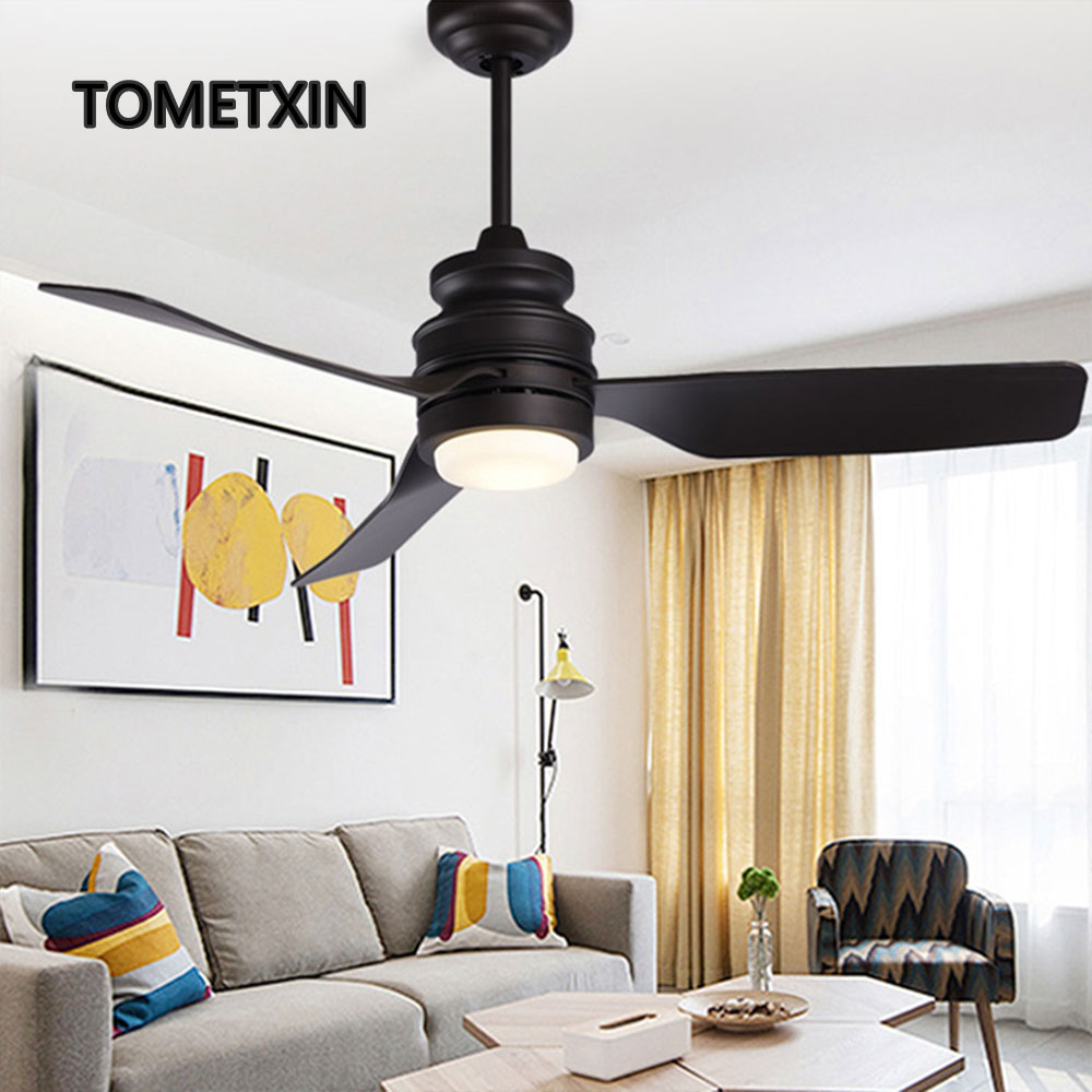 Creative Ceiling Fan With Light And Remote Fans Lighting For Home Living Room Led Lamp Lamps Black Reverse Function Silent Motor 44 Inch Regular Tea Drinking Improves Your Health
