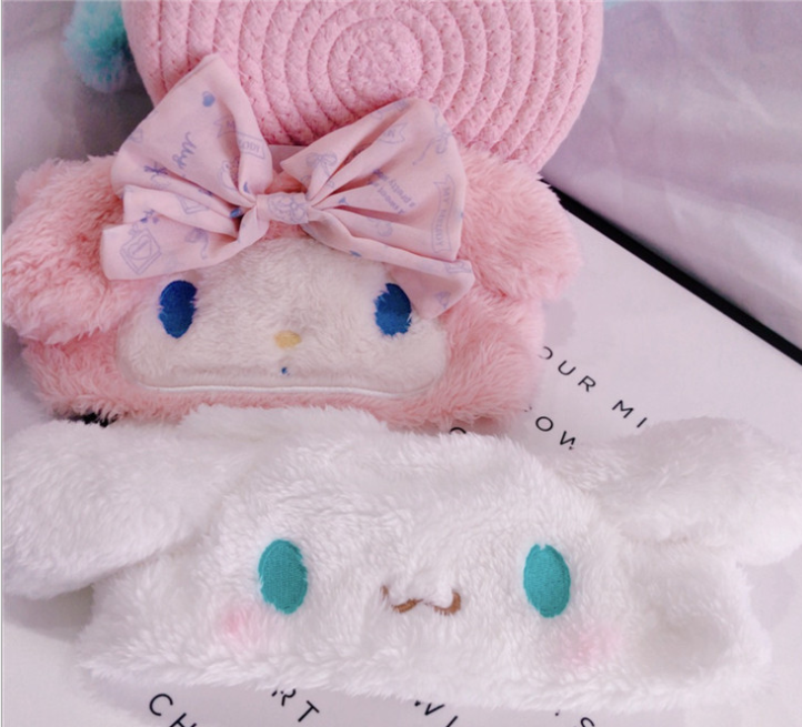 Hairband Toy Melodyings Big Ear Dog Pudding Soft Plush Headband for Girl Face Washing Clean Makeup Tool Peluches Toy