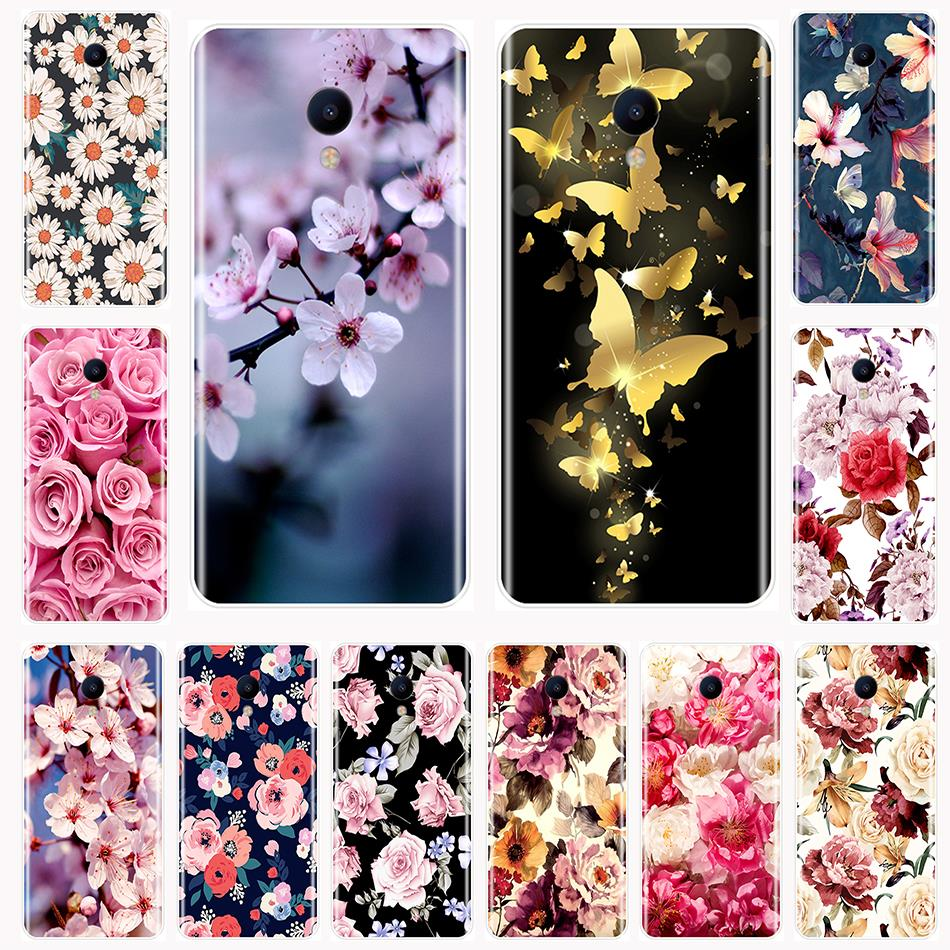 TPU For <font><b>Meizu</b></font> M2 M3 <font><b>M3S</b></font> M5 M5C M5S M6 M6S M6T Phone Case Silicone Beautiful Flowers Soft <font><b>Back</b></font> <font><b>Cover</b></font> For <font><b>Meizu</b></font> M2 M3 M5 M6 Note image