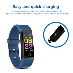 Image 3 - 115 mais inteligente pulseira de pressão arterial, relógio fitness rastreador freqüência cardíaca banda inteligente atividade rastreador pulseira