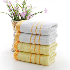 Thin Towel Hotel Bathroom Embroidered Cotton Quick-Dry Small Golden for Home WJWYYJ16