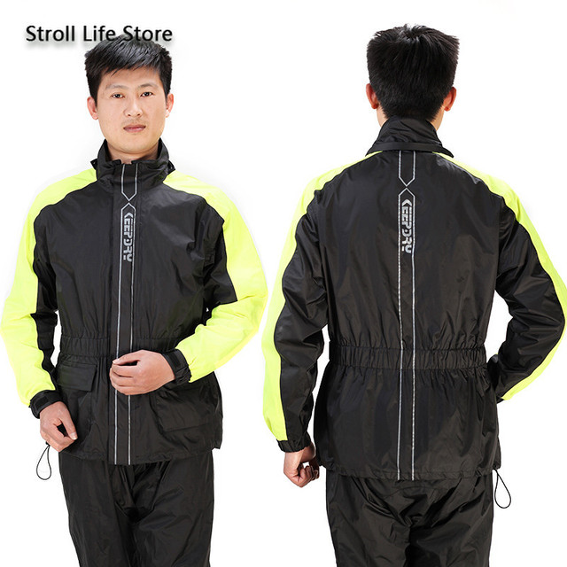 Rain Coat Men Jacket Motorcycle Raincoat Rain Pants Set Waterproof Thickening Rain Poncho Rainwear Impermeable Mens Sports Suits 4
