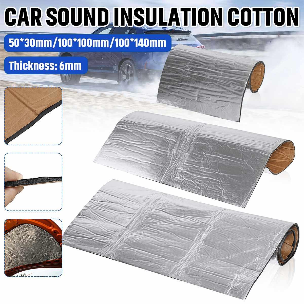 Car Soundproof Cotton Noise Deadener Sound Insulation Shield Foam 6mm 50*30cm/100*100cm/100*140cm