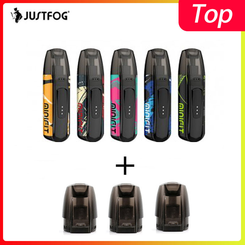 Original Justfog Minifit Starter Kit 370mAh All In One Vape Kit As Justfog Q16 With MINIFIT Battery Compact Pod Vaping Device