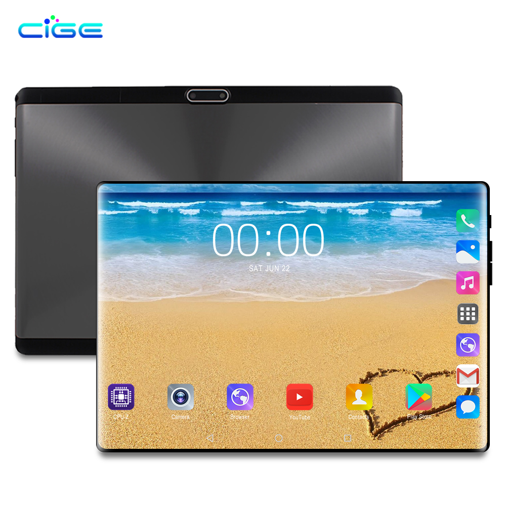 Free Shipping 10.1 Inch Tablet Pc Android 9.0 Octa Core 6GB+128GB 8MP Camera 1280*800 IPS Dual SIM 4G LTE WIFI GPS Tablets 10