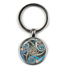 New Triple Moon Goddess Witchcraft Pentagram Magic Amulet Keychain Car Moon Keyring Jewelry Gift Family Amulet Keychain triple moon