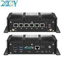Xcy fanless mini pc intel core i3 7100u celeron 6 lan 211at gigabit ethernet 2 * usb 3.0 hdmi rs232 firewall roteador pfsense minipc