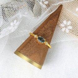 Женское кольцо с голубым топазом LAMOON Vingtate, кольцо из серебра 925 пробы с золотым покрытием 14 к, ювелирные украшения 2020, новинка, LMRI066